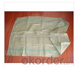 green PP woven bag for packing garbage with draw string for korea market