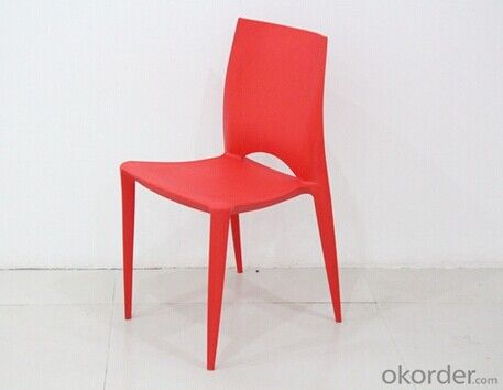 Red Color Outdoor Plastic Chair