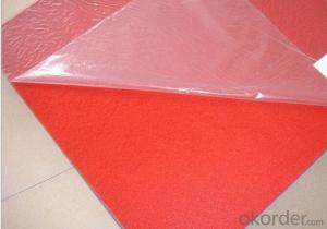 Needle punched non woven exhibition carpet with plastic film coated