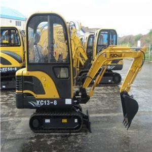 yuchai YC13-8  1.3 ton excavator
