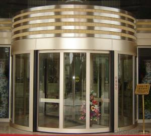 Revolving door two wings