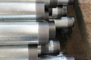 hot dipped galvanized pipe with thread