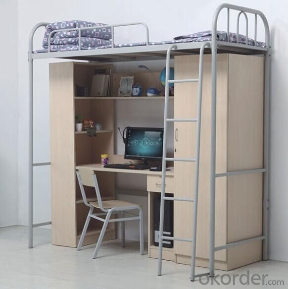 Steel Bunk Bed with Work Station