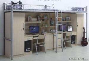 Double Bunk Bed with Workstation
