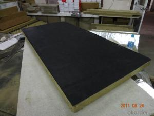Rockwool Board with Black Fiberglass Tissue
