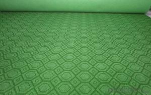 Needle punched nonwoven velour jacquard exhibition carpet roll