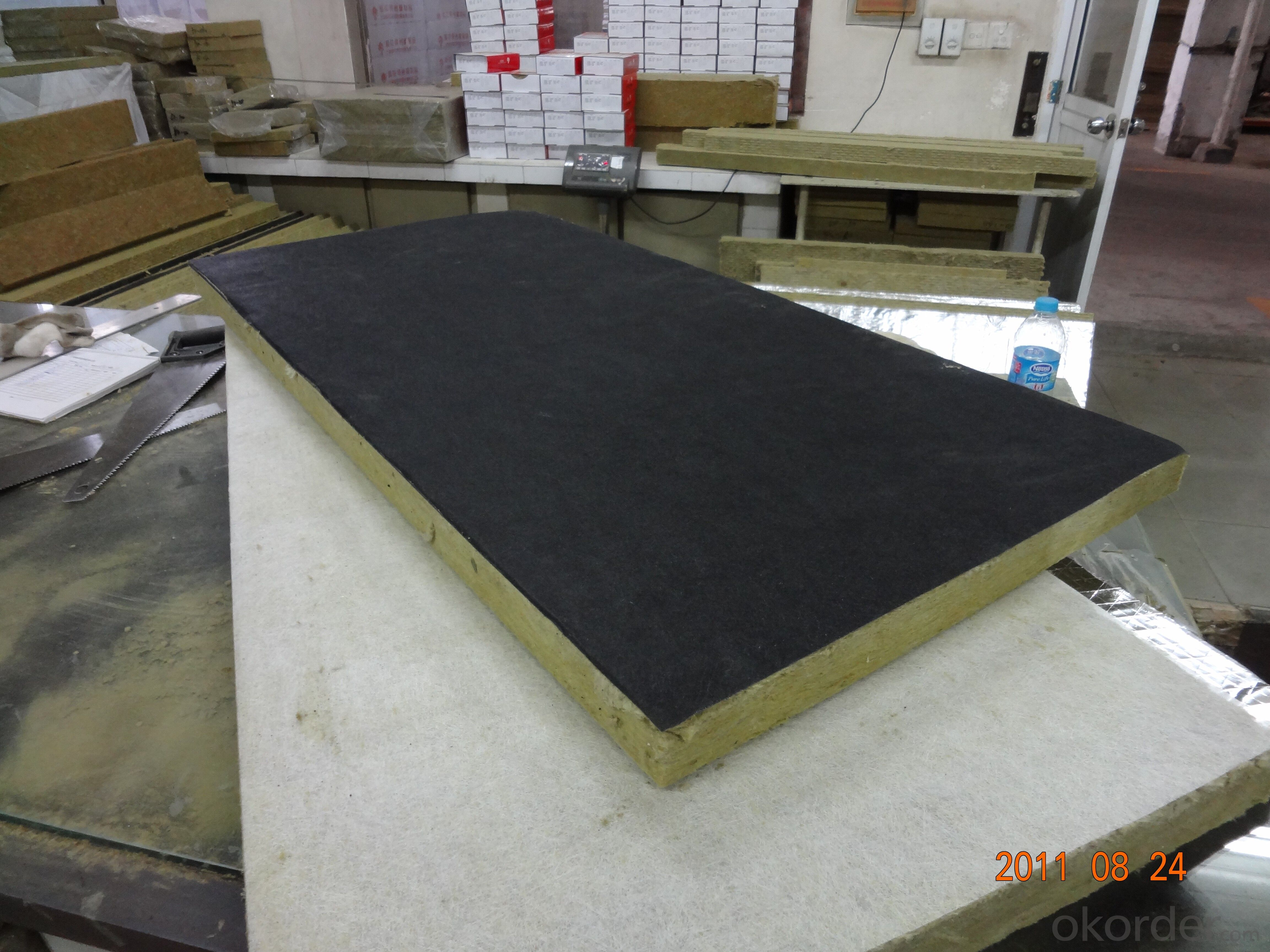 Buy black tissue faced rockwool board price size weight for Buy mineral wool