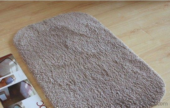 Brown Microfiber Shaggy Carpet