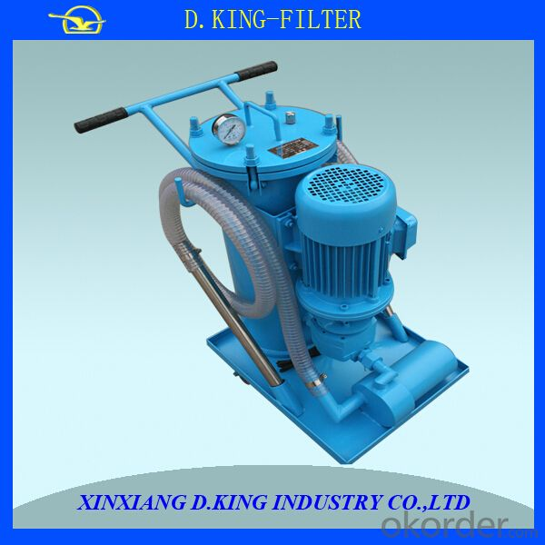 easy move 100L/mim  flow 30micron oil filter machine