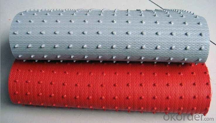 Two color durable spike bottom PVC coil floor mat