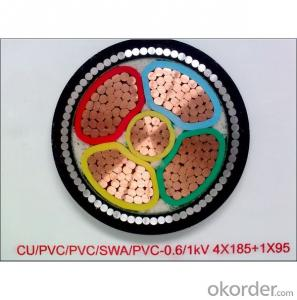 PVC insulated and sheathed power cable 0.6/1kV (steel wire armoured)