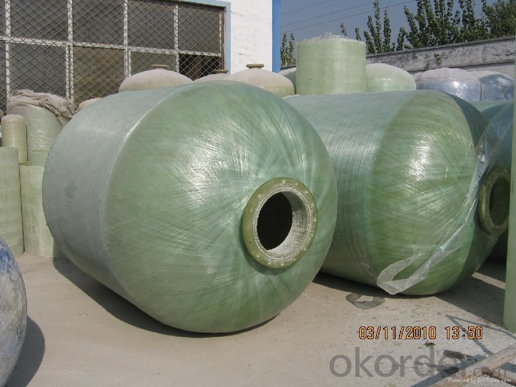 FRP Tanks for Water Treatment/FRP Soft Water Tank /Fiber Glass Reinforced Plastic Vessels for Water Treatment  DN4000