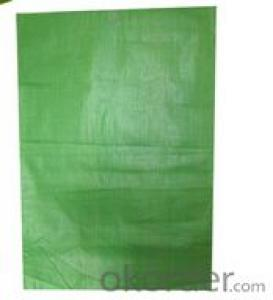 green pp woven bag for packing
