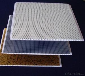 India Laminated Wave Panel Wood Grain PVC Ceiling Design