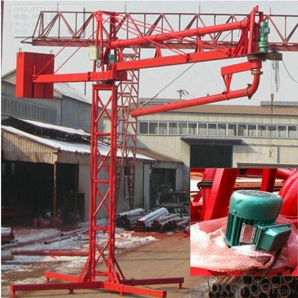 concrete construction equipment electric concrete placing boom