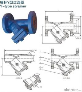 pipeline Y strainer for industry water treatment