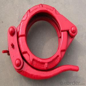 schwing 4 inch quick pipe coupling concrete pump pipe clamp