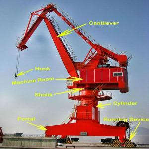 YUFEI Single Boom Jib Port Crane