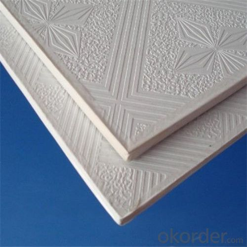 Decorated PVC Facing Gypsum Ceiling Tiles