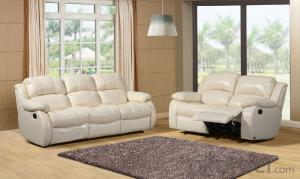 Modern recliner sofa Italian import leather 1+2+3 set