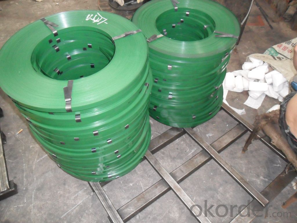 Binding Electro Gi Wire Paintbaked Steel Packing Strips Oscillated