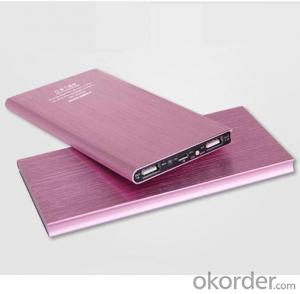 Slim Portable Power Bank with Dual Output