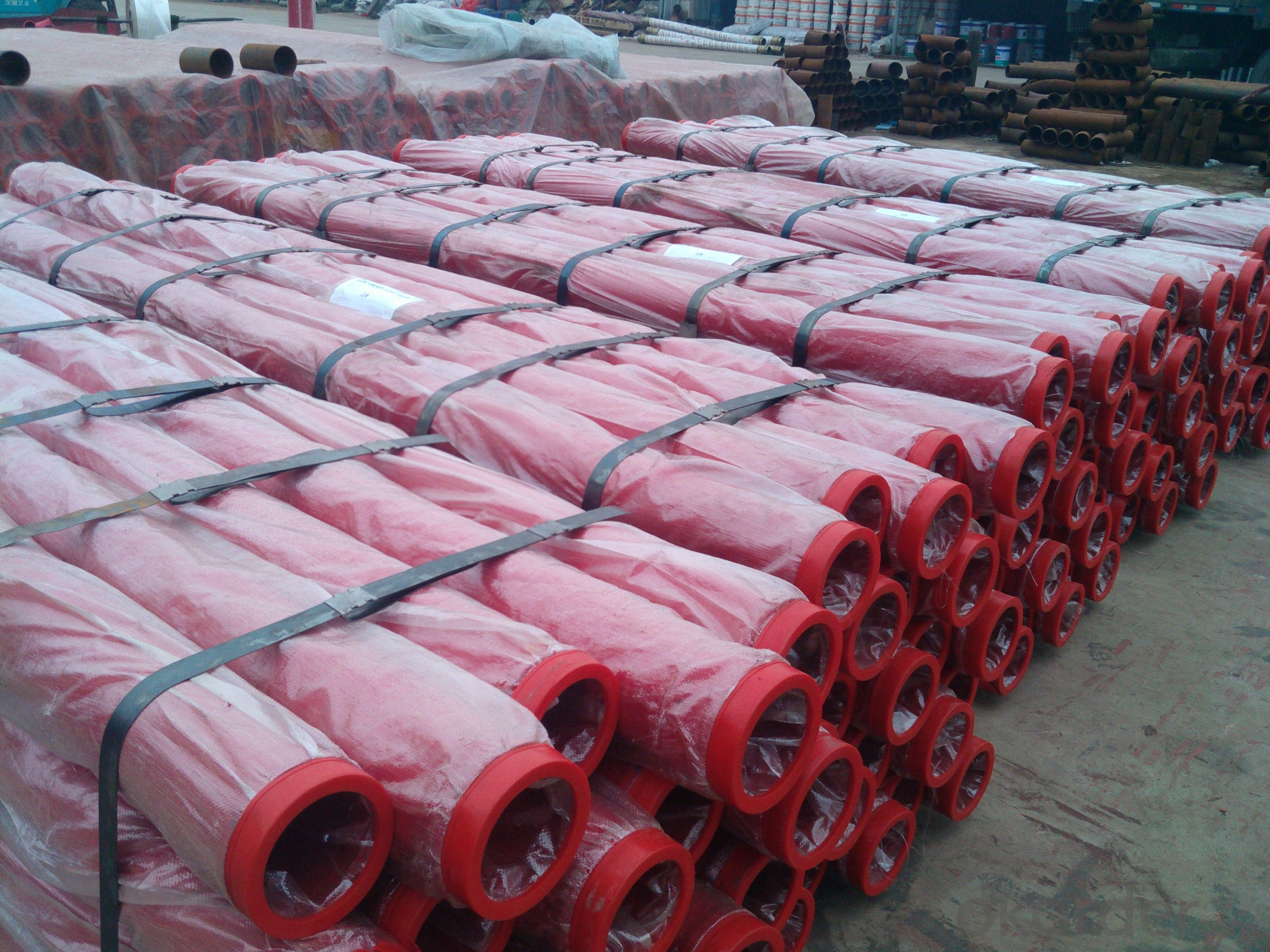 Concrete Pump Truck Parts Delivery Pipe without flange DN125 6MTR Thick 4.5MM ST52