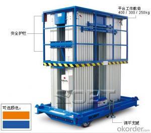 Aluminium quadruple mast platform