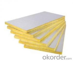 Glass Wool Board 10kg/m3 With Aluminum Foil Facing
