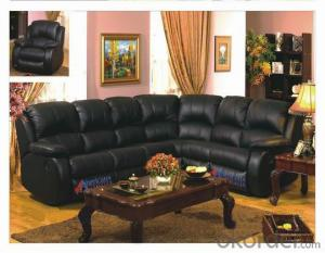 Modern recliner sofa real leather 6seater  L-sharpe
