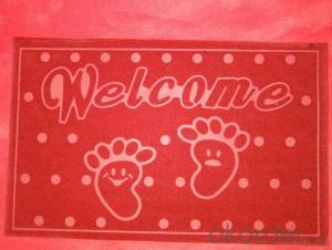 foam backing mat PVC logo mat
