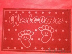 foam backing mat PVC logo mat