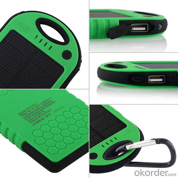 Waterproof Solar Power Bank for Mobile Phone