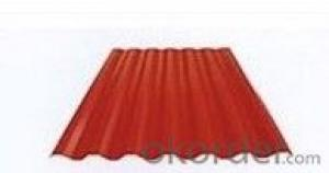 RED COLOR CORRUGATED GALVANIZED STEEL SHEET