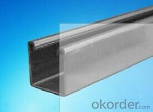 C profile, hot dipped galvanized steel c channel