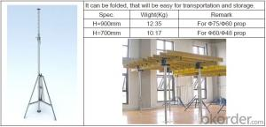 Steel Prop & Tripod for build formwork and scaffolding system