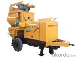 concrete pump QJHBT40-13-37S with forced concrete mixer