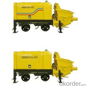 Mining concrete pump machine HBMD15-6-22S