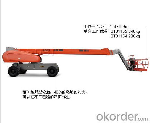 Self-propelled straight boom lift - 30/32 meters
