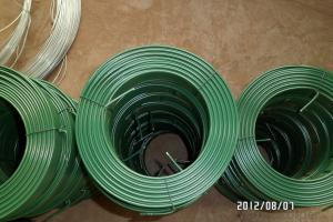 Green PVC Coated Electro Galvanized Wires in Different Gauges