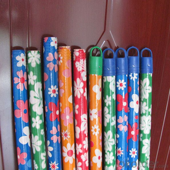 Painted wooden mop sticks for broom