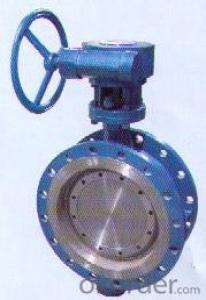 Three eccentric metal seat butterfly valve