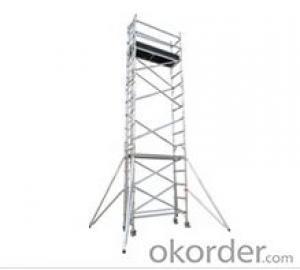 Single width uprightness ladder scaffolding