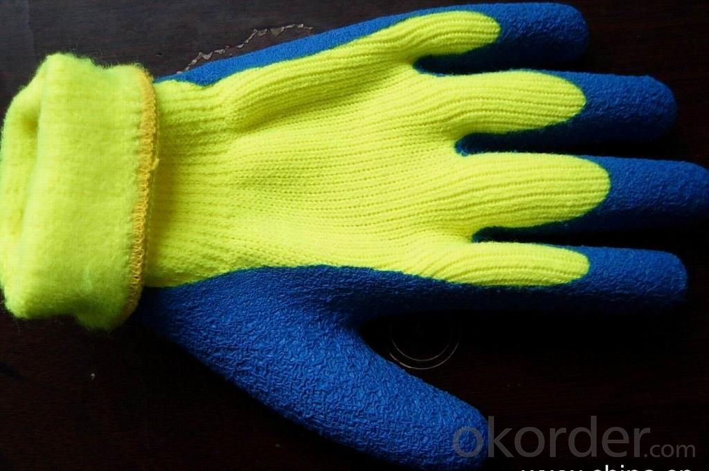 nitrile coated industrial working glove