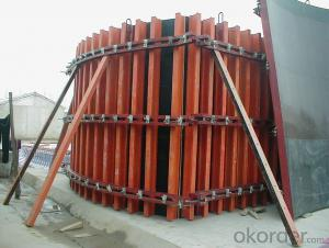 Simple Timber Beam Formwork for Curve Concrete Wall Formwork