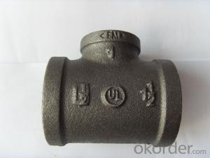 Tee malleable iron pipe fittings