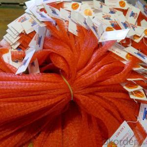 Mesh bag extruded  for fruit  soft