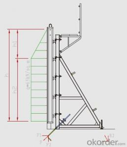 Single-side Bracket Steel formwork and scaffolding system