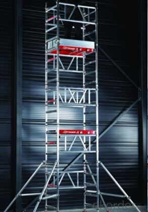 aluminum construction mobile scaffolding tower