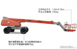 Self-propelled straight boom lift - 26/24 meters